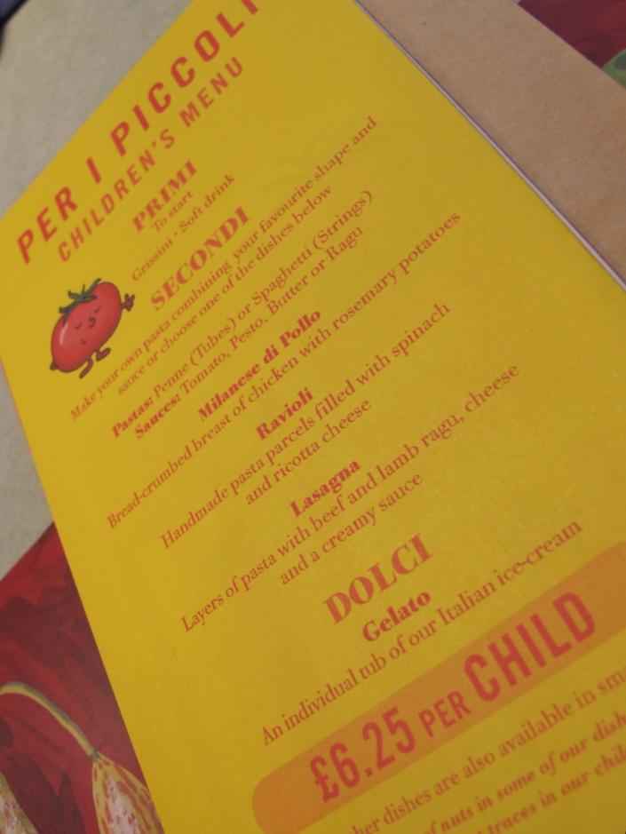 carluccios childrens menu
