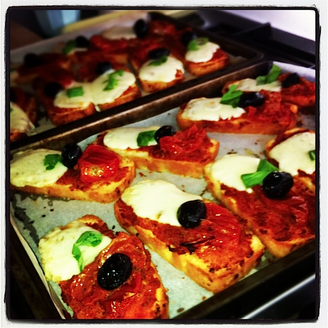 Mini Ciabatta Sundried Tomato Pizzas