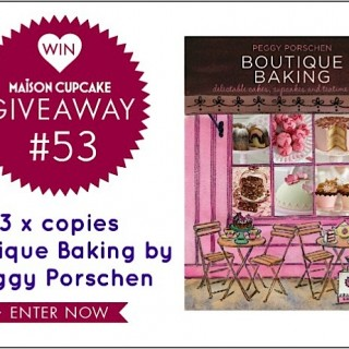 (CLOSED) Giveaway #53: Boutique Baking by Peggy Porschen