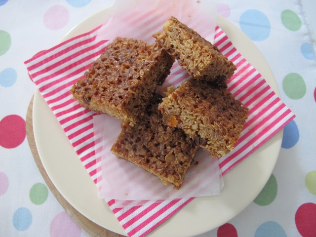 apricot and ginger flapjacks