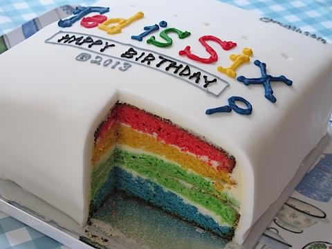 Google rainbow birthday cake - 2