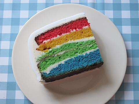 Google rainbow birthday cake - 3