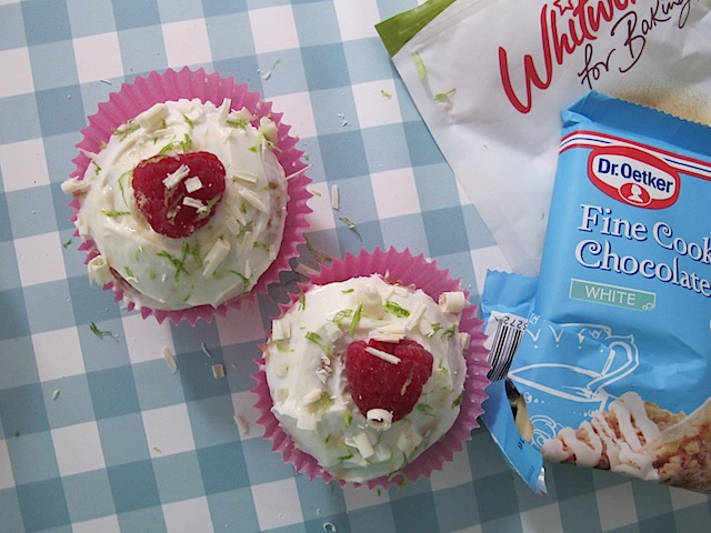 ... cupcake version. Simply slather low fat Philly on top and grate over