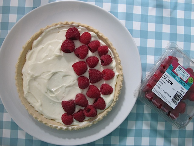 Really fast raspberry tart - 3
