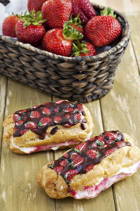 Strawberry Cream Eclair