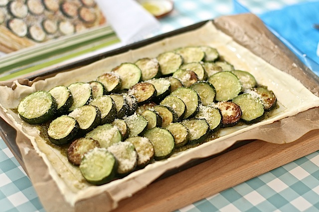 Courgette pesto tart - 06