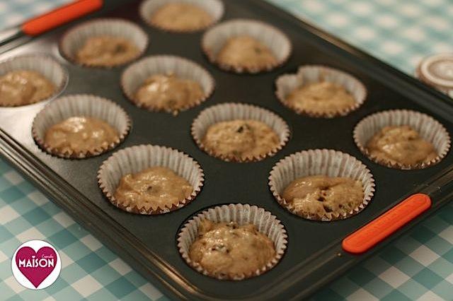 Golden brown sugar raisin spelt muffin baking - spelt flour is often tolerated by coeliacs even though it's not technically #glutenfree