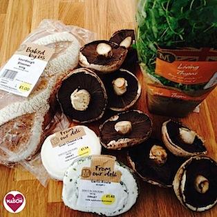 Morrisons Groceries ingredients for breaded garlic mushrooms