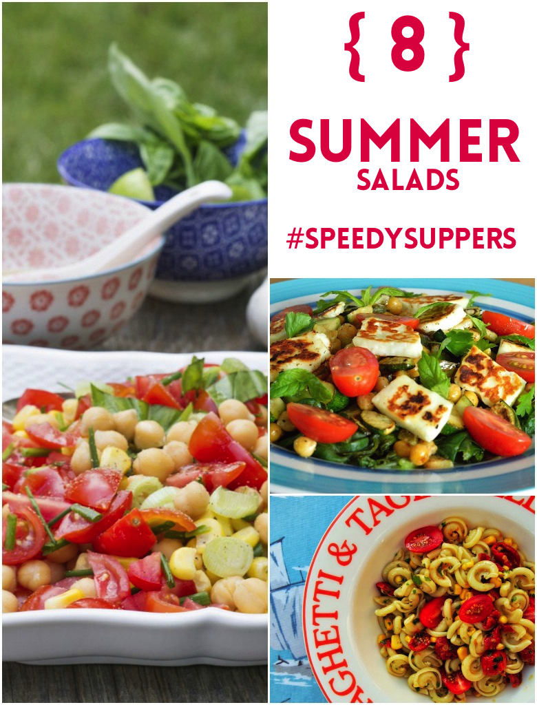 Savour these 8 summer salads for speedy suppers using seasonal ingredients and ready in under 30 minutes.