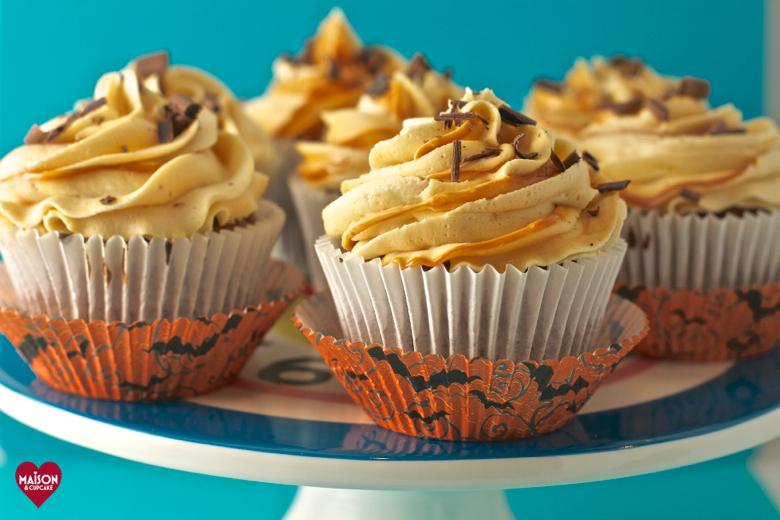 Sweet potato cupcakes with salt caramel icing - Maison Cupcake