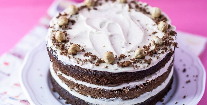 Chocolate chestnut layer cake (We Should Cocoa)