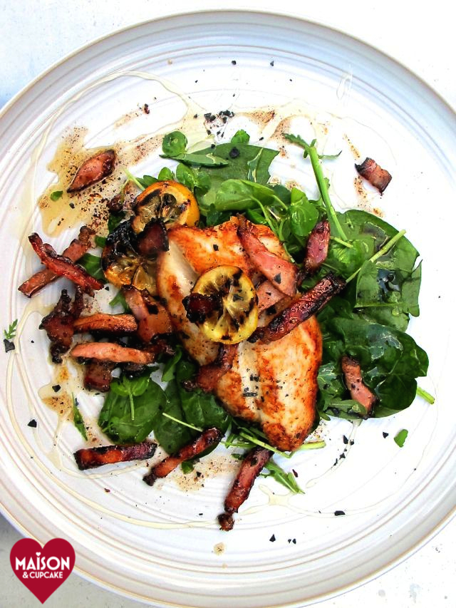 Budget basa fillets bacon spinach - 3-imp