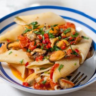 Chilli Mussels with Pennoni Pasta Recipe