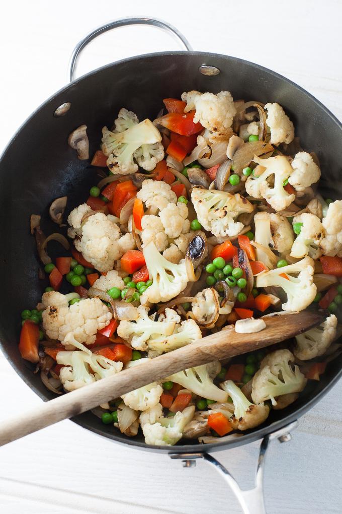 Vegetable Biryani prep