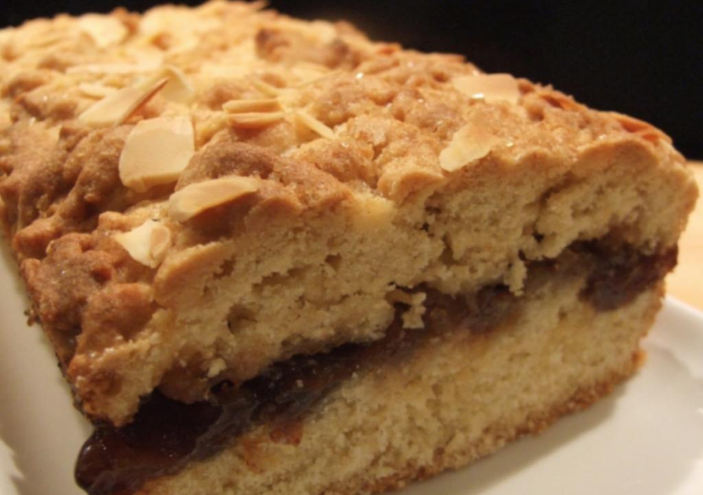 Mincemeat shortcake slice