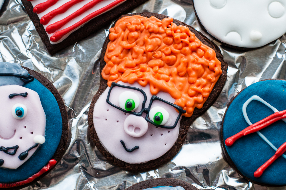 Space party cookies Capture the Flag Movie