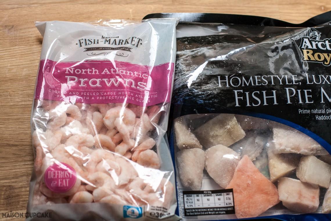 Power of Frozen Iceland prawns and luxury fish pie mix