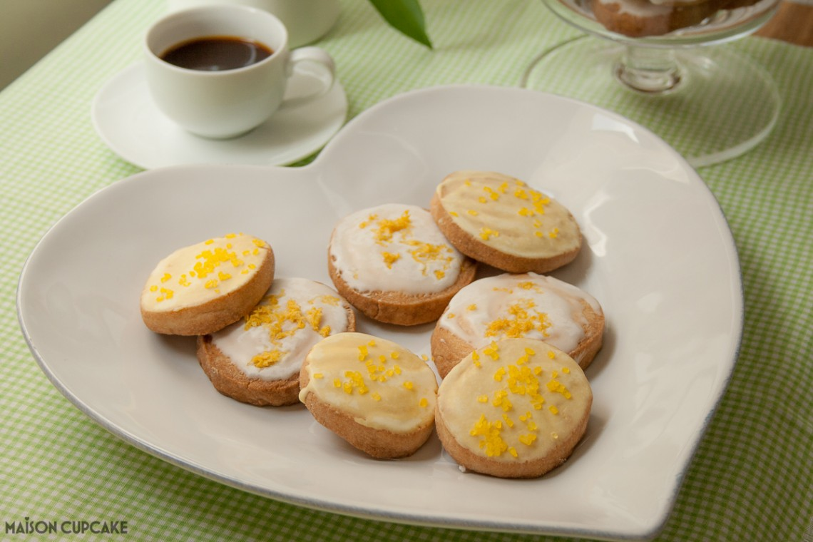 Slice and bake cookies with lemon icing - so easy to make - keep the dough in the fridge or freezer and bake a few at a time. Decorated with instant royal icing flavoured with lemon juice