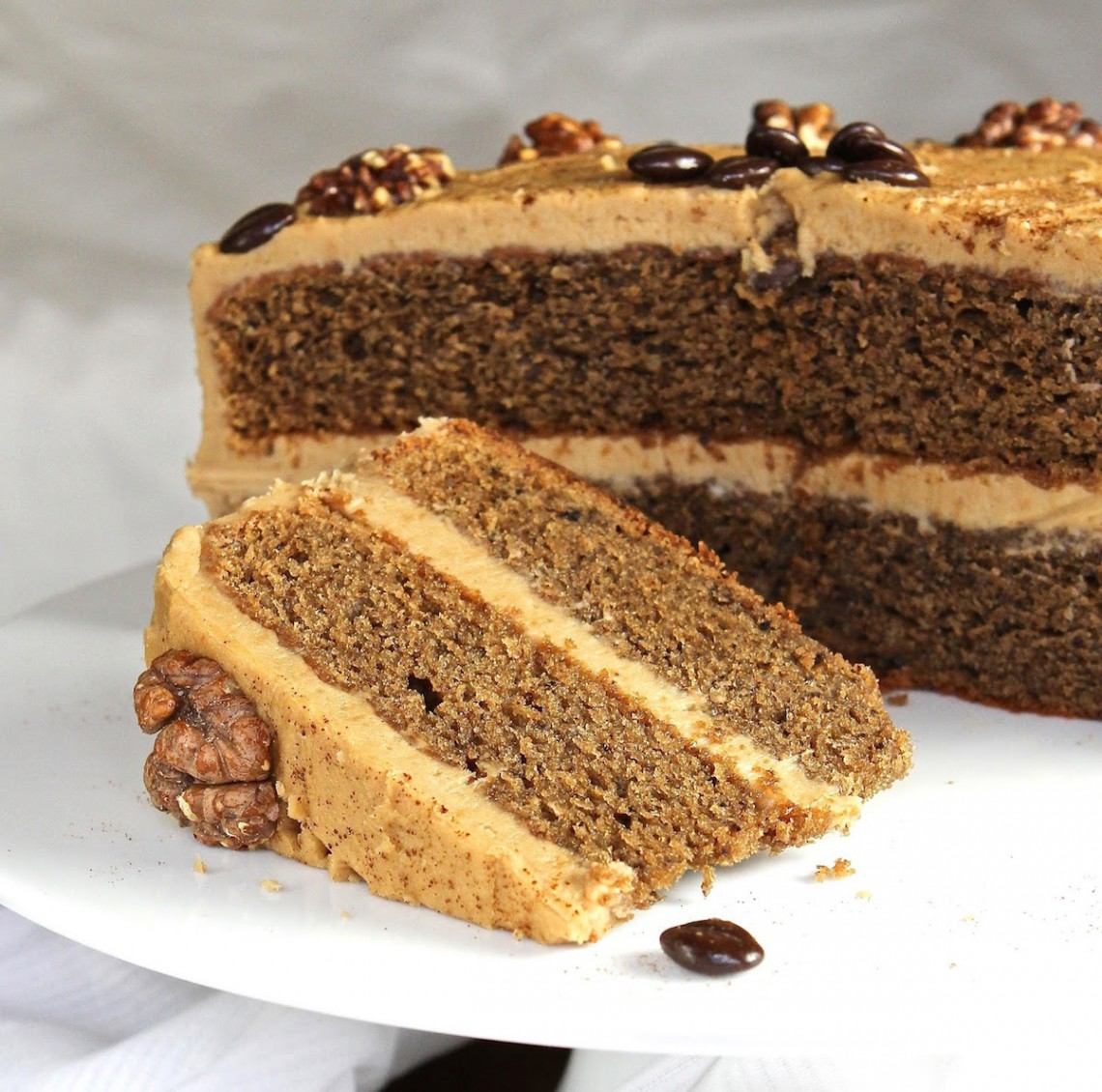 gluten free coffee walnut cake