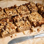 Tasty chickpea blondies with choc chips, coconut and chia granola