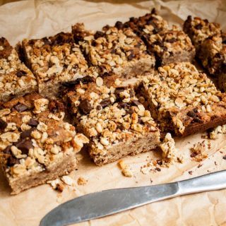 Coconut, Chia and Chocolate Chickpea Blondies