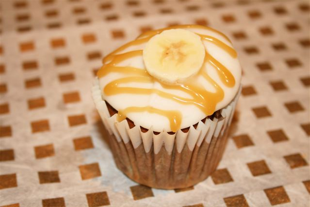 banoffee cupcakes cream cheese icing