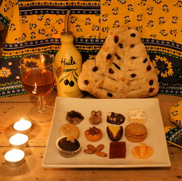 13 desserts of Provence at Christmas: treize desserts de Provence Noel