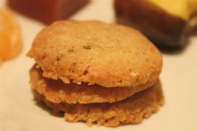 sable biscuits with cumin and fennel