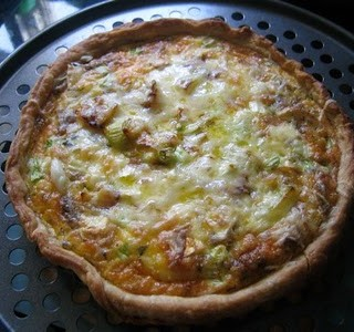 Recipe: leek and goat's cheese tart