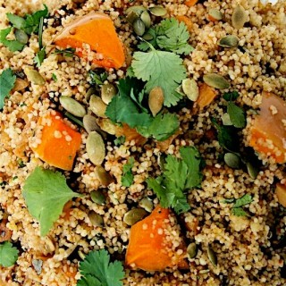 Couscous with dried apricots and butternut squash