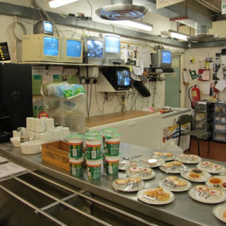 The Secret Nuclear Bunker canteen