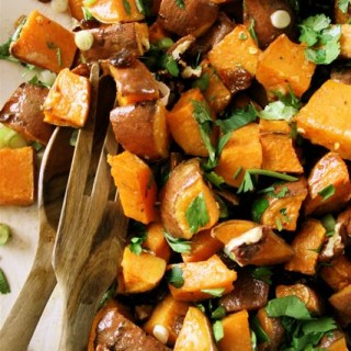 Sweet potato salad recipe with pecan and maple