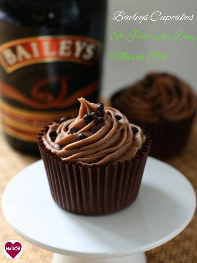 Chocolate Baileys Cupcakes With Chocolate Baileys Buttercream Icing
