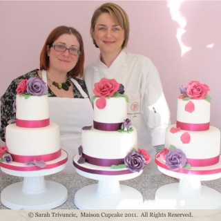 Peggy Porschen Academy: making two tier wedding cakes