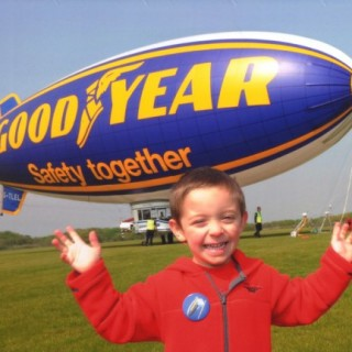 Postcard from: the Goodyear Blimp
