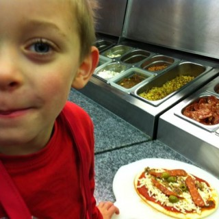 Ted makes pizza with Nick Coffer of My Daddy Cooks