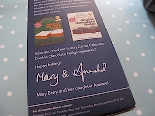 Mary Berry packet cake mix
