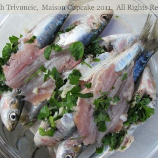 Raw Sardines for Barbecue