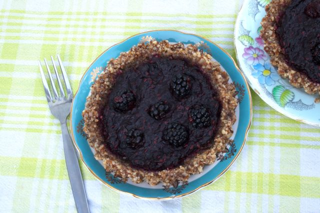 Gluten free blackberry tart by Snog