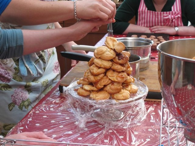 Making Croquembouche