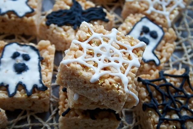 Halloween Rice Crispy Squares
