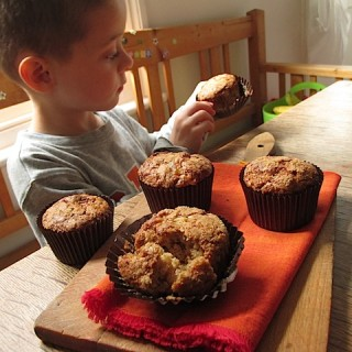 Recipe: pear and ginger spelt muffins