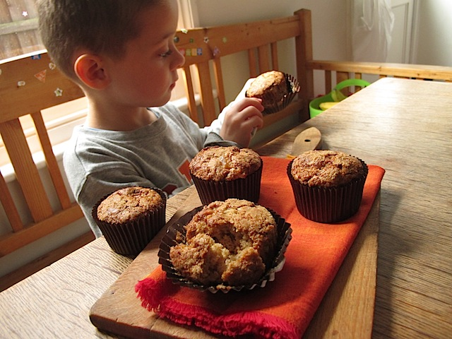 Pear-and-ginger-spelt-muffins