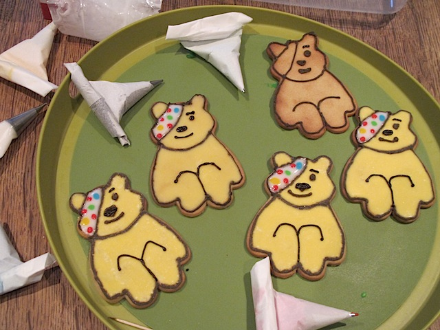 Pudsey Bear Cookies Children in Need