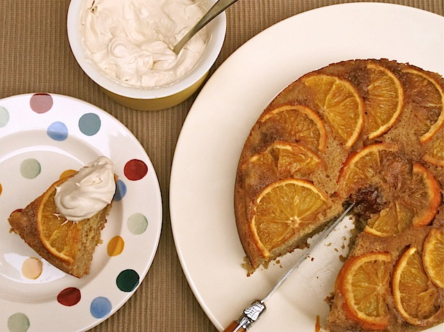 orange spice upside down cake