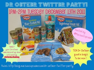 Dr Oetker Christmas baking Twitter party!
