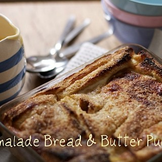 Recipe: marmalade bread and butter pudding