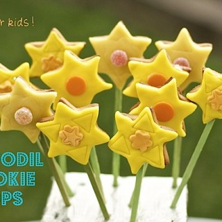 Recipe: daffodil cookie pops