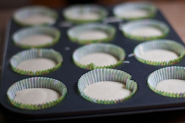 Filling cupcake cases with ready made cake mix at MaisonCupcake.com