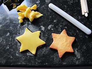 yellow-star-cookies